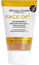 Духи, Парфюмерия, косметика Пилинг-маска для лица - Revolution Skincare Face Off! Gold Glitter Face Off Mask