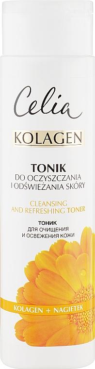 Тоник очищающий для лица - Celia Collagen Cleansing Tonic