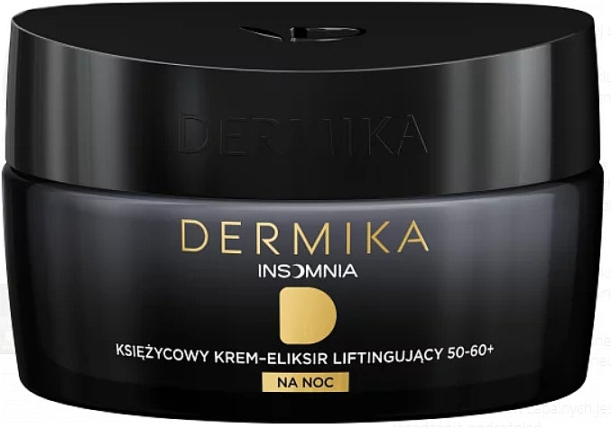 Крем-эликсир для лица 50-60+ - Dermika Insomnia Moon Cream-lifting Elixir