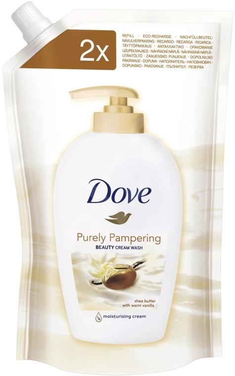 """Мыло для рук """"Масло ши и ваниль"""" - Dove (дой-пак) — фото N3"""
