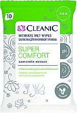 Духи, Парфюмерия, косметика Салфетки для интимной гигиены, 10шт - Cleanic Super Comfort Wipes