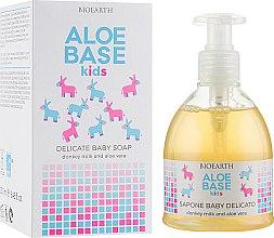 Духи, Парфюмерия, косметика Детское нежное мыло - Bioearth Aloebase Kids Delicate Baby Soap With Aloe