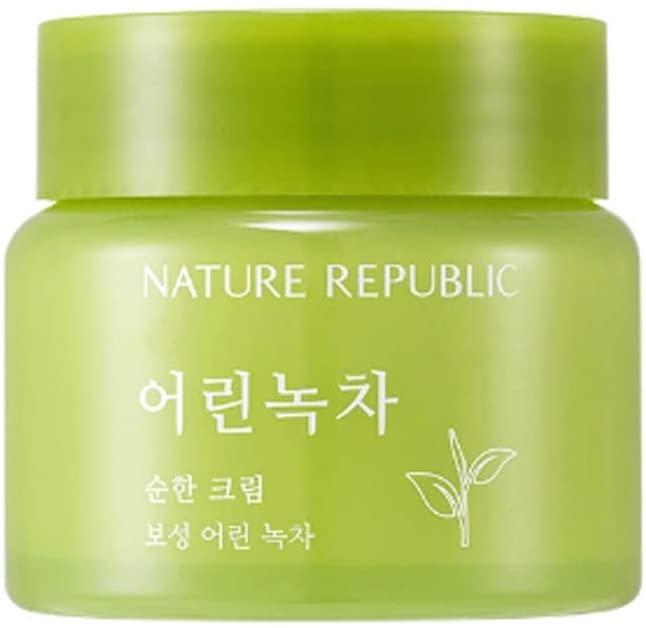 Легкий крем с экстрактом зеленого чая - Nature Republic Mild Green Tea Cream
