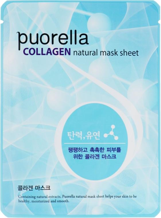 Тканевая маска для лица с коллагеном - Puorella Collagen Natural Mask Sheet