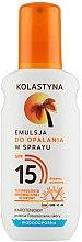 Духи, Парфюмерия, косметика Водостойкая эмульсия для загара в спрее - Kolastyna Suncare Emulsion SPF 15