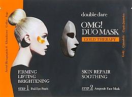 """Духи, Парфюмерия, косметика Комплекс двухкомпонентный из маски и патчей """"Смягчение и восстановление"""" - Double Dare OMG! Duo Mask Gold Treatment"""