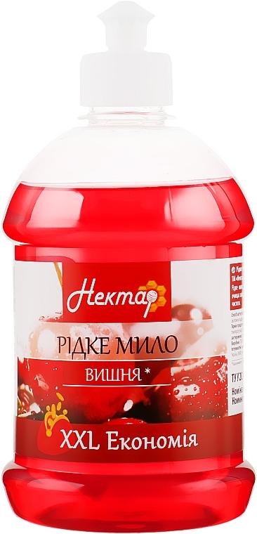 "Жидкое мыло ""Вишня"", пуш-пул - Aqua Cosmetics Нектар"