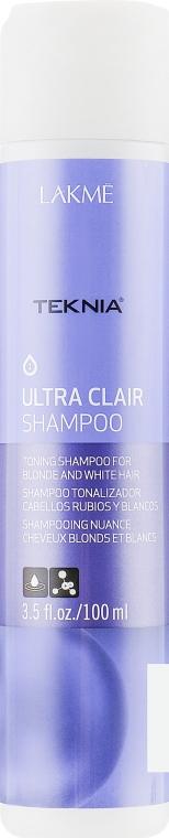 Шампунь для обесцвеченных, натуральных светлых и седых волос - Lakme Teknia Ultra Clair Shampoo