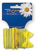 Духи, Парфюмерия, косметика Резинки для волос 22043, 12 шт, желтые - Top Choice
