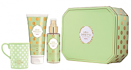 Духи, Парфюмерия, косметика Pupa Miss Princess Kit Large Green Tea - Набор(sh/milk/200ml + scented/water/150ml + cup)