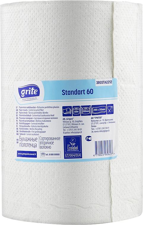 "Полотенца бумажные ""Standart 60"", 2 слоя, 60 м, 1 рулон - Grite"