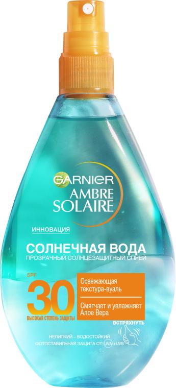 """Солнцезащитный спрей для тела """"Солнечная вода"""" - Garnier Ambre Solaire Solar Water Spray SPF30"""