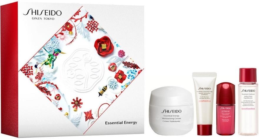 Набор - Shiseido Essential Energy Holiday Kit (cr/50ml + foam/15ml + f/lot/15ml + conc/5ml)