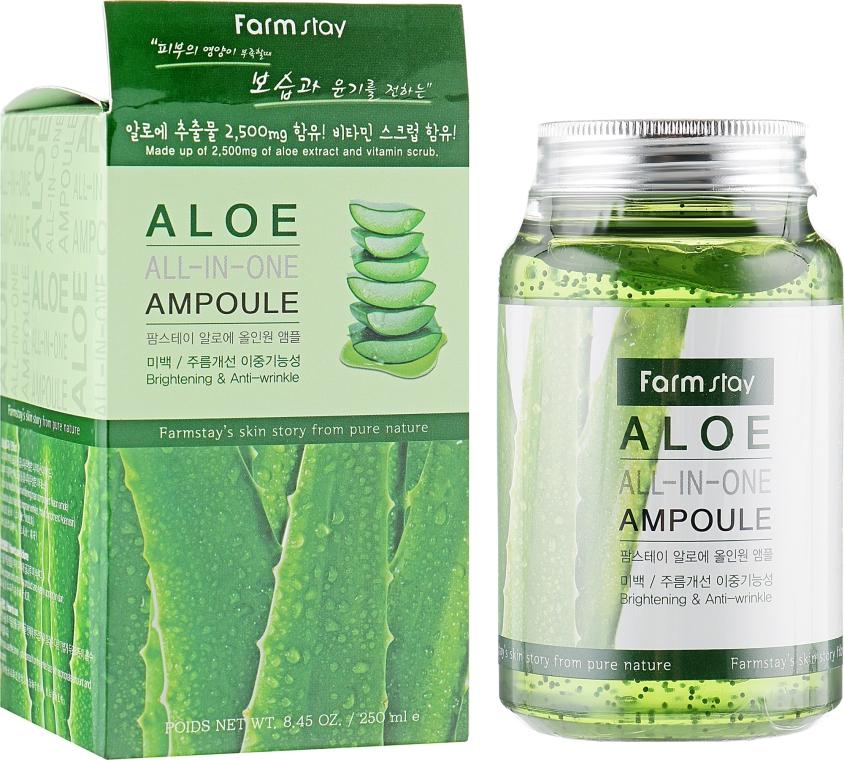 Ампульная сыворотка с экстрактом алоэ - FarmStay Aloe All-In-One Ampoule