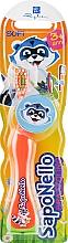 Духи, Парфюмерия, косметика Детская зубная щетка, мягкая 3+, оранжевая - SapoNello