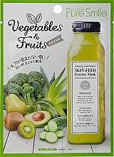 Духи, Парфюмерия, косметика Маска для лица желтая - Pure Smile Essence Vegetables&Fruits