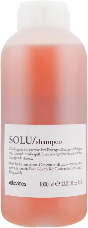 Активно освежающий шампунь для глубокого очищения волос - Davines Solu Shampoo