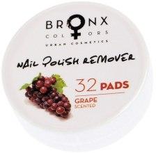 Духи, Парфюмерия, косметика Салфетки для снятия лака - Bronx Colors Nail Polish Remover Pads Grape