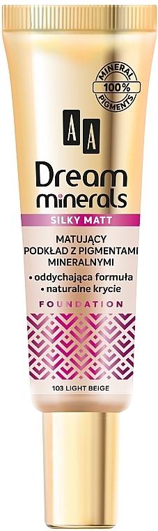 Матирующая тональная основа для лица - AA Dream Minerals Silky Matt Foundation