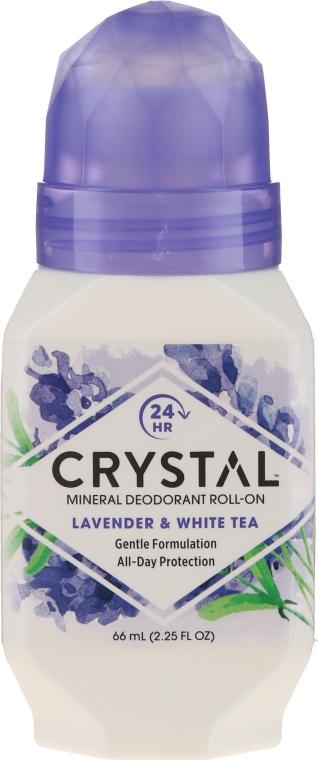 Роликовый дезодорант с ароматом Лаванды и Белого чая - Crystal Essence Deodorant Roll-On