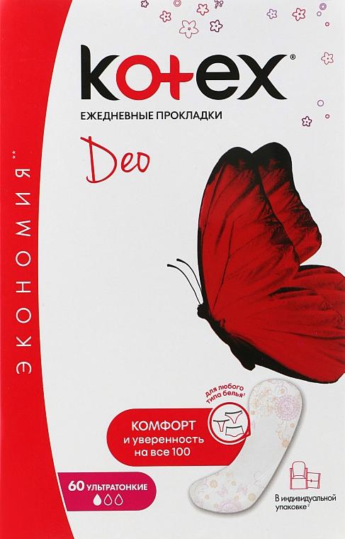 "Ежедневные прокладки ""Мультиформ"", Lux, 60шт - Kotex Deo Super Slim"
