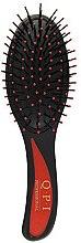 Духи, Парфюмерия, косметика Расческа массажная, РМ-8581, черная с красной ручкой 21 см - QPI