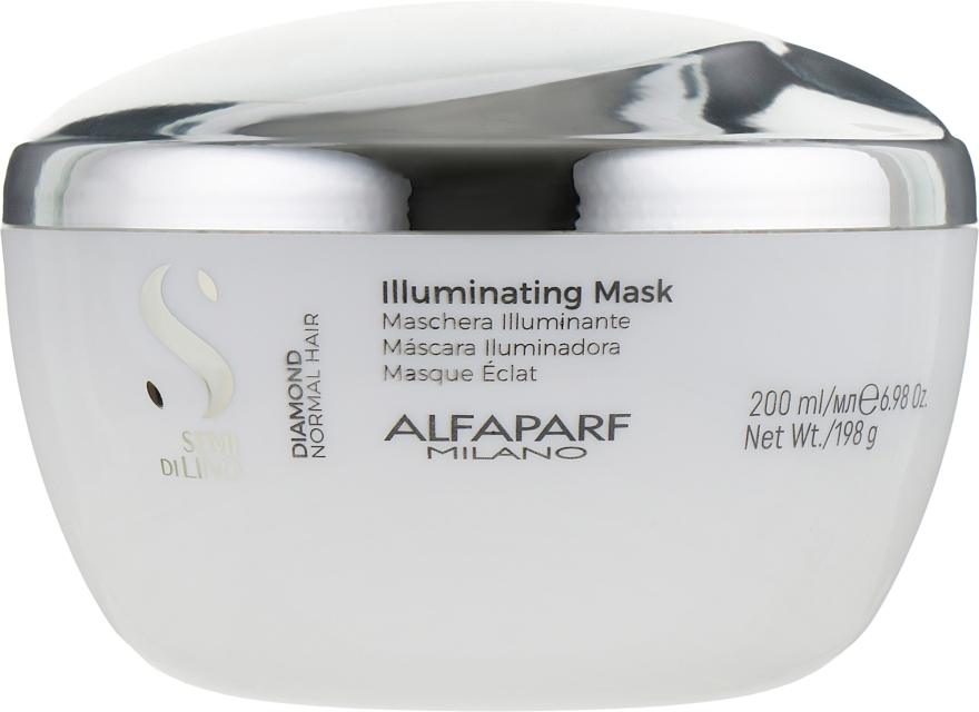 Маска для блеска волос - Alfaparf Milano Semi Di Lino Diamond Illuminating Mask