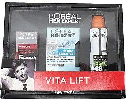 Духи, Парфюмерия, косметика Набор - L'Oreal Paris Men Expert Vita Lift Hydra Sensitive (cr/50ml + ash/lot/100ml + deo/150ml)
