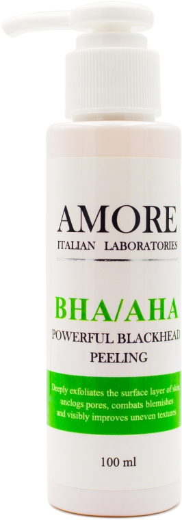 Концентрированный пилинг с кислотами против черных точек и акне - Amore BHA/AHA Powerful Blackhead Peeling