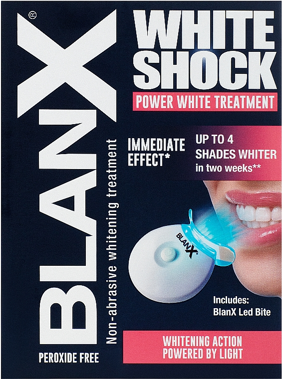 "Интенсивный отбеливающий комплекс ""White Shock blue formula"" + активатор Led Bite - BlanX White Shock"