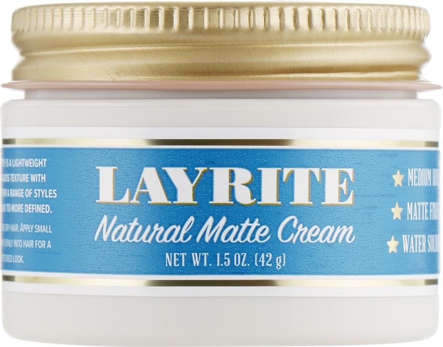 Матовая помада для укладки волос - Layrite Natural Matte Cream