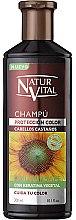 Духи, Парфюмерия, косметика Шампунь для сохранения цвета окрашенных волос - Natur Vital Coloursafe Henna Colour Shampoo Chestnut Hair