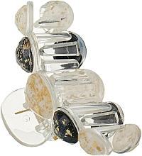 "Духи, Парфюмерия, косметика Крабик для волос ""5 Beads"", HA-1252, черно-белый - La Rosa"
