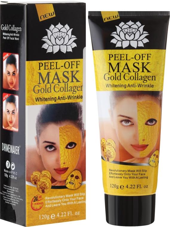 Маска для лица антивозрастная с золотом - Pil'aten Anti Aging 24K Gold Collagen Peel Off Face Mask