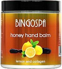 Духи, Парфюмерия, косметика Бальзам для рук с медом и лимоном - BingoSpa Honey Balm For Hands With Lemon And Collagen