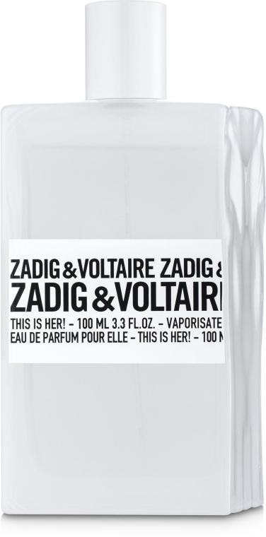 Zadig & Voltaire This is her - Парфюмированная вода (тестер с крышечкой)