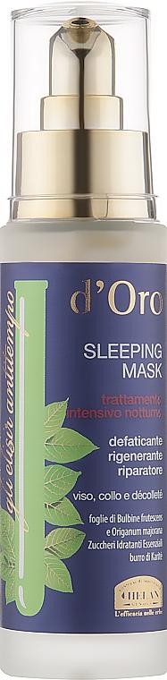 Маска для лица ночная - Helan D'oro Sleeping Mask