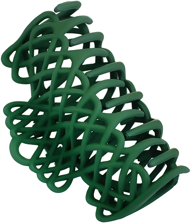 """Крабик для волос """"Плетеный"""", d-668, зеленый - Dini Matte Style"""