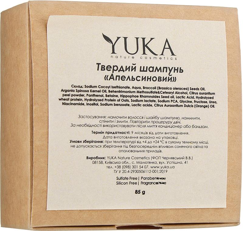 """Твердый шампунь для волос """"Апельсиновый"""" - Yuka"""