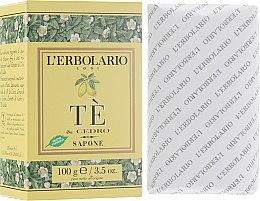 "Духи, Парфюмерия, косметика Душистое мыло ""Чай и цитрон"" - L'Erbolario Sapone Te and Cedro"