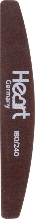 Пилка для ногтей Half Brown 180/240 - Heart Germany