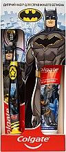 Духи, Парфюмерия, косметика Детский набор по уходу за зубами «Для настоящего Бэтмена» - Colgate (toothpaste/75ml + toothbrush/1pc)