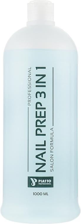 """Обезжириватель для снятия липкого слоя и очистки кисточек """"3 в 1"""" - Piatto Nail Prep 3in1"""