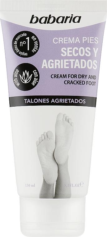Крем для сухих и потрескавшихся ног - Babaria Aloe Vera Cracked Heel and Very Dry Foot Cream