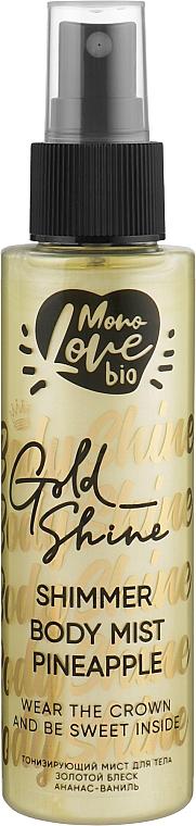"Мист для тела ""Ананас"" - MonoLove Bio Shimmer Body Mist Pineapple Golden Shine"