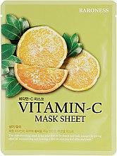Духи, Парфюмерия, косметика Тканевая маска с витамином С - Beauadd Baroness Mask Sheet Vitamin C