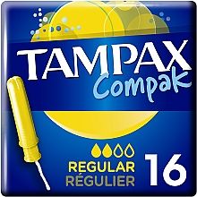 Парфумерія, косметика Тампони з аплікатором, 16 шт - Tampax Compak Regular