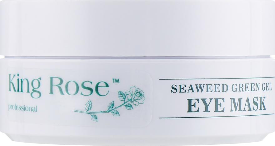 Гидрогелевые патчи для глаз антивозрастные от морщин с водорослями - King Rose Seaweed Green Gel Eye Mask — фото N2