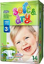Духи, Парфюмерия, косметика Детские подгузники Soft&Dry Midi (4-9 кг, 14 шт) - Helen Harper