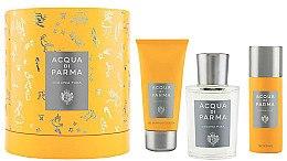 Духи, Парфюмерия, косметика Acqua Di Parma Colonia Pura - Набор (edc/100ml + sh/gel/75ml + deo/50ml)